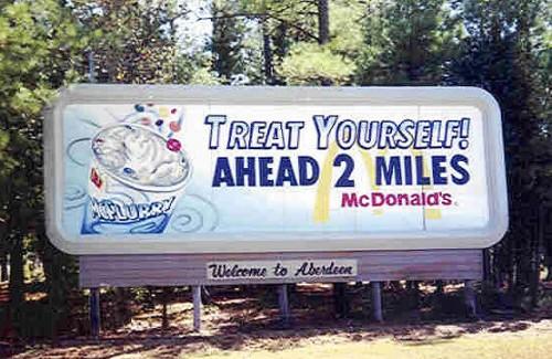 32' x 12' hand painted billboard